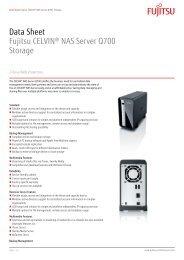 Data Sheet Fujitsu CELVIN® NAS Server Q700 Storage