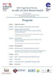 Program - Ethnic Communities Council of Victoria