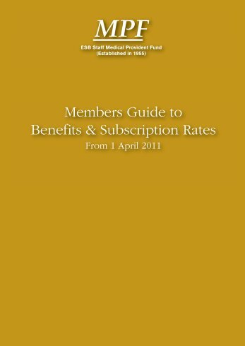 Members Guide to Benefits & Subscription Rates - ESB Retired Staff ...