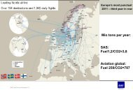 Mio tons per year: SAS: Fuel1,2/CO2=3,8 Aviation global ... - Bioenergi
