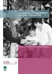 parental involvement in early learning - Bernard van Leer Foundation