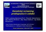 CELIAKIE - Veterinární a farmaceutická univerzita Brno
