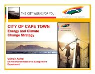 CITY OF CAPE TOWN - ICLEI World Congress 2006