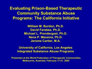 Males Females - UCLA Integrated Substance Abuse Programs
