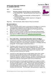 Agenda item 5 – Planning 8.11.12 - South East England Councils