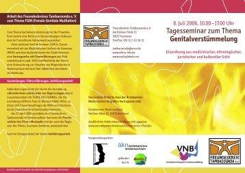 Tagesseminar zum Thema Genitalverstümmelung - Bio-hannover.de