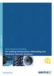 Total Solution Funding For Cabling Infrastructure ... - Mayflex