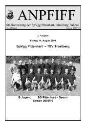 SpVgg Pittenhart – TSV Trostberg
