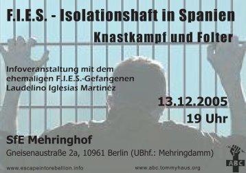 F.I.E.S. - Isolationshaft in Spanien - abc berlin