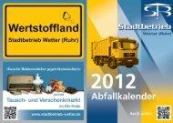 Abfallkalender Innenseiten 12 - Stadt Wetter