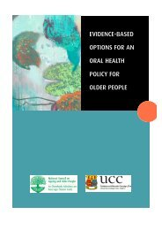 Evidence-Based Options for an Oral Health Policy for Older People