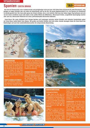Spanien Costa Brava Lloret de Mar - Reise Service Radermacher