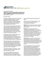 Interviews: Sylvia Garrigó/Kent Robertson, Attorney/Media ... - Chevron