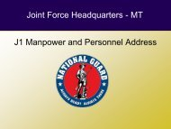 Joint Force Headquarters - MT J1 Manpower and Personnel Address