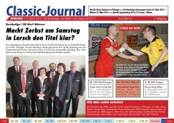 Classic-Journal Spieltag 12.03.13