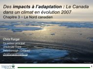 Des impacts à l'adaptation : Le Canada dans un climat ... - Focusnorth