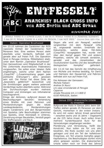 November 07 - ABC - anarchist black cross berlin