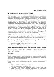 VP Asia Activity Report 2010 - ISRM