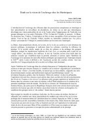 Étude sur la vision de l'esclavage chez les Martiniquais - Manioc