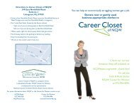 Career Closet of NCJW/Essex - Essex County Section