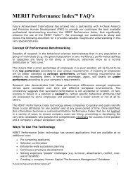 MERIT Performance Index FAQ - Future Achievement International
