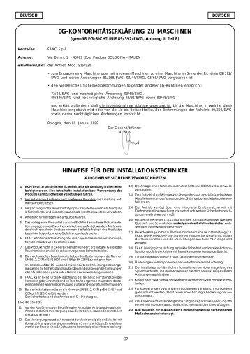 525-530 Garagenantrieb.pdf - FAAC Servicecenter Österreich