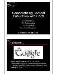 Democratizing Content Publication with Coral - Stanford Secure ...