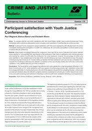 Participant Satisfaction with Youth Justice Conferencing