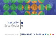 MEDIADATEN 2006 - Security-Forum