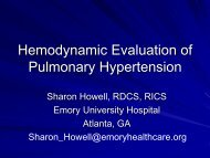 Hemodynamic Evaluation of Pulmonary Hypertension