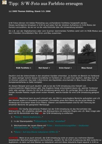 S/W aus Farbfoto erzeugen - Unsere Welt der Fotografie