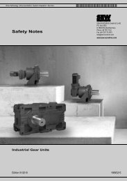 Safety Notes – Industrial Gear Units - SEW Eurodrive
