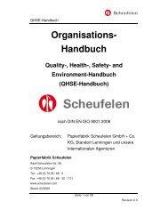 QHSE-Handbuch - Scheufelen