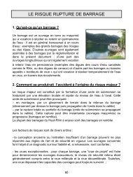 Le risque rupture de barrage - 0,38 Mb - 13/03/2013 - Préfecture