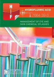Hydrofluoric Acid Hydrofluoric Acid Management of eye and skin ...