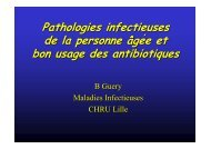 Dr B.Guery - Pathologies infectieuses des PA et bon usage ... - PIRG