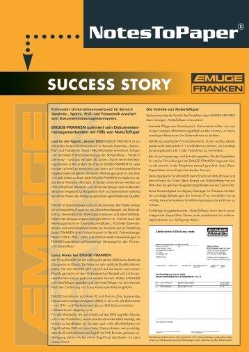 Success Story EMUGE FRANKEN - SoftVision Development