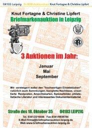 04103 Leipzig Ihr BDB-Auktionshaus Knut Fortagne & Christine Lipfert