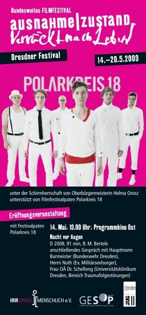 Dresdner Festivalflyer - Ausnahme Zustand