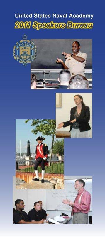 2011 Speakers Bureau - United States Naval Academy