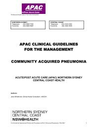 APAC clinical guidelines for the management of Community - ARCHI