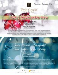 newsletter - Twin Creeks Country Club