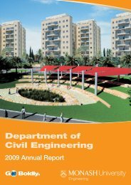 Department of Civil Engineering - Faculty of Engineering - Monash ...