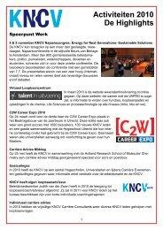 Activiteiten 2010 De Highlights - KNCV