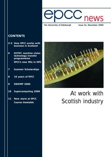 **issue 41 dec 2000 PRINTER - EPCC - University of Edinburgh
