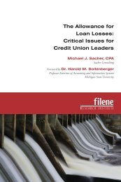 The Allowance for Loan Losses - Filene Research Institute