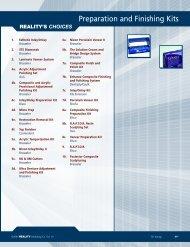 Preparation and Finishing Kits - REALITY Publishing Company