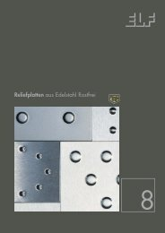 Reliefplatten aus Edelstahl Rostfrei - Fielitz GmbH Leichtbauelemente