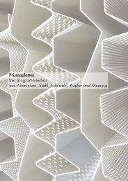 Prismaplatten freiprogrammierbar aus Aluminium, Edelstahl Rostfrei ...
