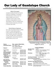 Our Lady of Guadalupe Church - Our Lady of Guadalupe Catholic ...